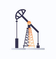 oil pump icon industry equipment fossil fuels vector image