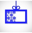paper banner with snowflake for business vector image