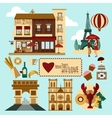 Paris Touristic Set vector image vector image
