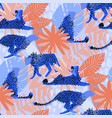 pattern of cheetahs surrounded by exotic vector image vector image