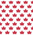 pattern with red maple leaves vector image vector image