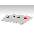 poker cards design vector image vector image