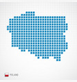 poland map and flag icon vector image