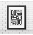 Quote typographical Background in realistic square vector image vector image