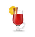 realistic 3d detailed mulled red wine vector image vector image