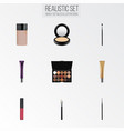 realistic liquid lipstick day creme concealer vector image vector image