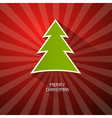 Red Green Abstract Merry Christmas Background vector image vector image