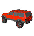 red off road vehicle on white background vector image vector image