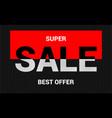 sale elegant lettering advertising template vector image