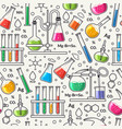 science seamless pattern vector image vector image