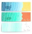Sea postcards vector image vector image