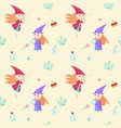 seamless pattern with cute little vector image vector image