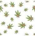 seamless texture medical marijuana four vector image vector image