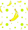 seamless tileable texture with bananas and green p vector image vector image