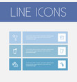set of 6 editable cook icons includes symbols vector image