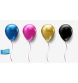 set realistic balloons isolated on light vector image vector image