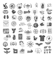 set vintage logos vector image