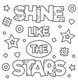 shine like the stars coloring page vector image vector image