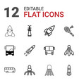 shuttle icons vector image vector image