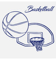street basketball ball flies into ring vector image vector image