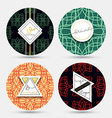 Templates vintage napkin Patterns with geometric vector image vector image