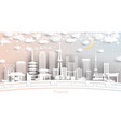 tokyo japan city skyline in paper cut style vector image