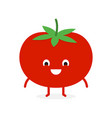 tomato cute vegetable character vector image vector image