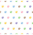 traces of dog seamless pattern animal print vector image