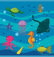 under the sea colections of animals vector image vector image