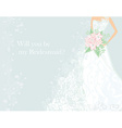 Will you be my Bridesmaid vector image vector image