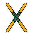wooden sword bokken icon icon cartoon vector image vector image
