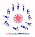 yoga sun salutation routine daily practice vector image