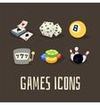 Gambling icons set vector image
