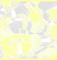 yellow grey grunge geometric background vector image
