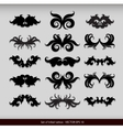 Set of 15 different tribal tattoo vector image