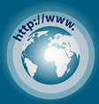 world wide web background vector image