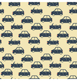 city car pattern blue vector image