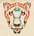 Panther tattoo symbol decoration vector image