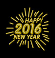 2016 new year Outline neon light BAckground for vector image