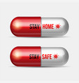 a pill for coronavirus covid-19 vector image