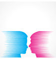 Abstract male and female face vector image vector image