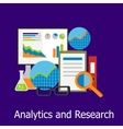 Analytics and Research Concept Design Style vector image vector image