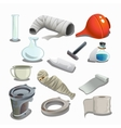 Attributes of hospital gypsum flasks and other vector image vector image