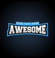 awesome text power full typography t-shirt vector image vector image