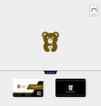 bear creative logo template free business card vector image vector image