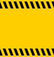 black and yellow warning line striped square title vector image vector image