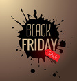 black friday sale splash design vector image vector image