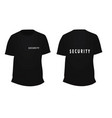 black security t shirt vector image