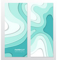 blue abstract banner - set of template vector image