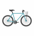 blue bike bicycle isolated on white background vector image vector image